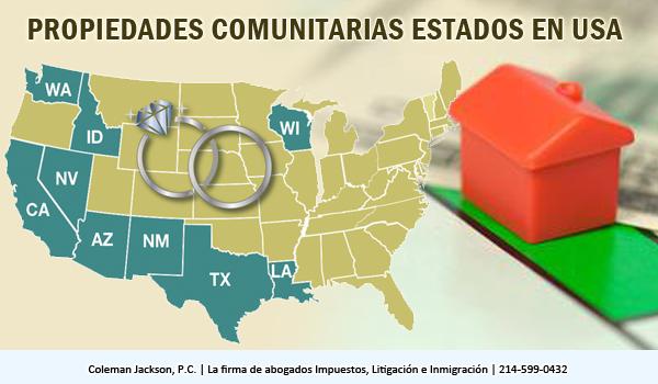 Implicaciones de impuestos federales de matrimonio en una comunidad de estado de la propiedad
