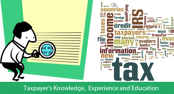 Taxpayer's Knowledge, Experience and Education