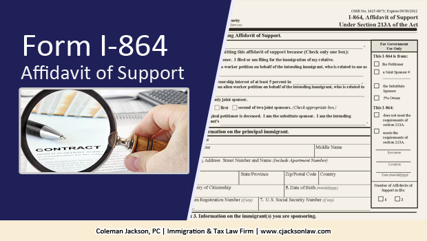 Form I-864 Immigration Affidavit of Support
