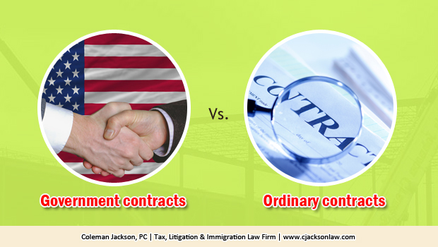 Government Contracts are Different from Contracts between Ordinary Parties