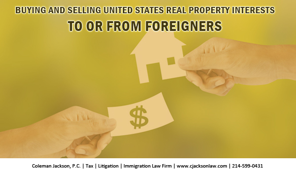 Foreigners are subject to United States tax laws under certain circumstances.  Resident and nonresident aliens (foreigners) are taxed differently under U.S. tax laws.