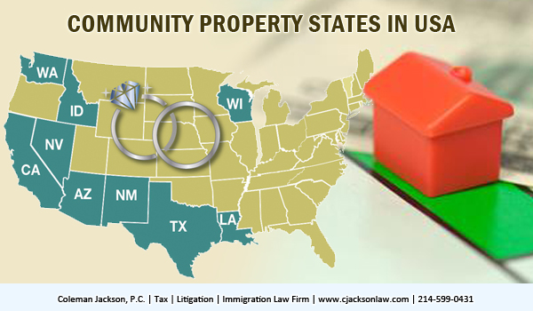 Community property state in USA