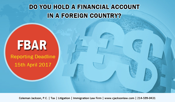 Do you hold a financial account in a foreign country?