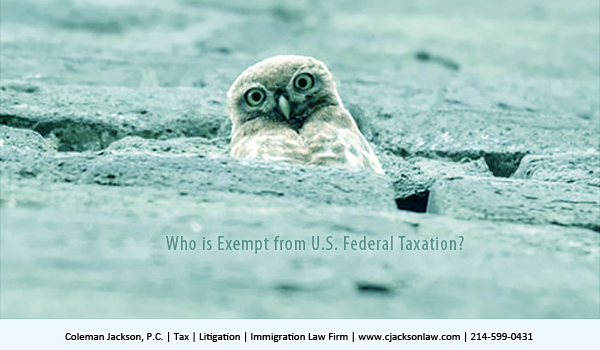 Who is Exempt from U.S. Federal Taxation?