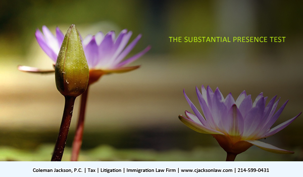 The Substantial Presence Test