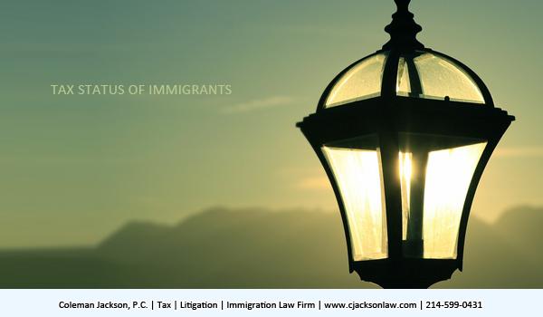 tax status of immigrants