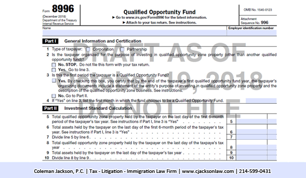 IRS Form 8996