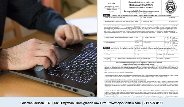 Form 114 FBAR reporting
