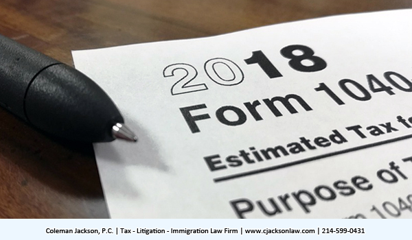 Form 1040 Taxpayer
